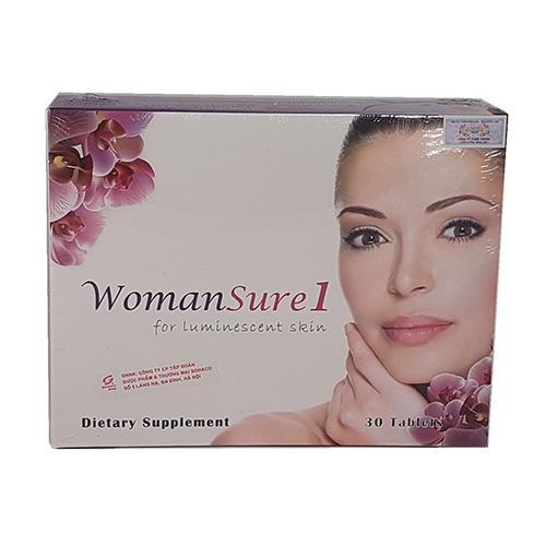 Womansure 1 – Viên uống trắng da toàn thân nhập khẩu Mỹ