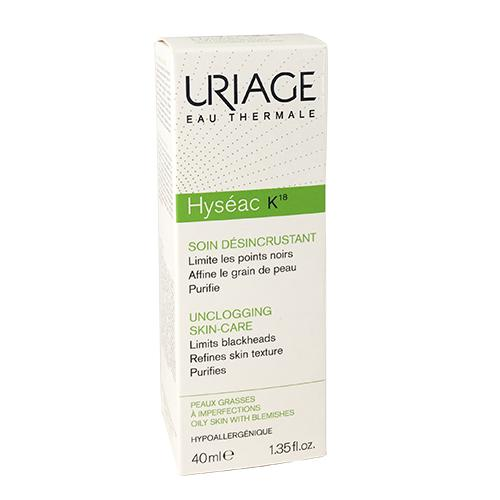 Uriage Hyséac K18 40 ml – Kem ngăn ngừa mụn cám, mụn đầu đen