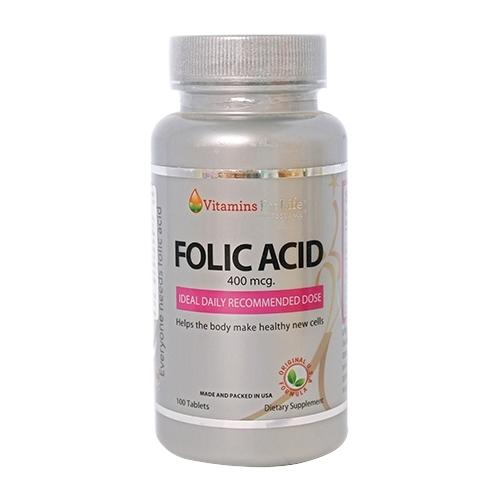 Folic Acid 400mcg Vitamins For Life - Bổ sung acid folic cho cơ thể