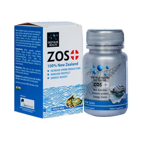 ZOS+ Deep Blue Health - Viên uống giảm mụn và hỗ trợ sinh lý