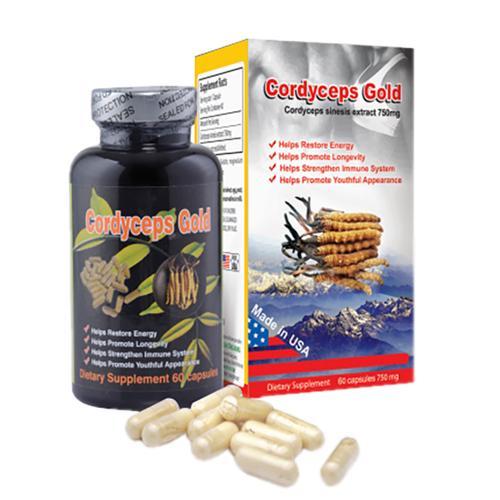 Đông Trùng Hạ Thảo Cordyceps Gold 750 mg