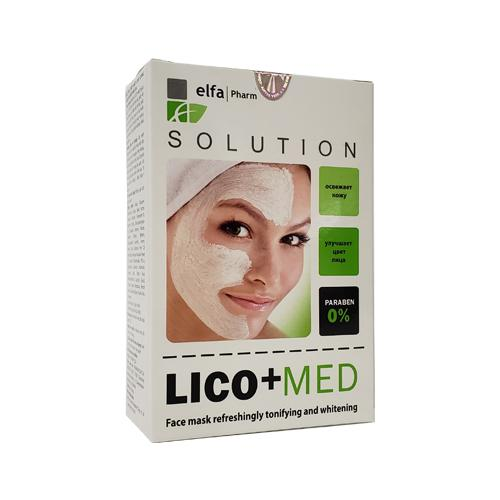 Elfa Lico+Med mặt nạ đắp mặt làm căng, sáng, đều màu da