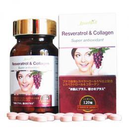 Resveratrol & Collagen - Đẹp da và cải thiện sinh lí nữ