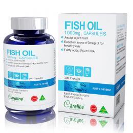 Fish Oil 1000 mg capsules Careline – Mắt sáng tinh anh, trí não phát triển