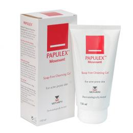 Papulex moussant soap free cleansing gel 150ml – Gel rửa ngăn ngừa mụn trứng cá